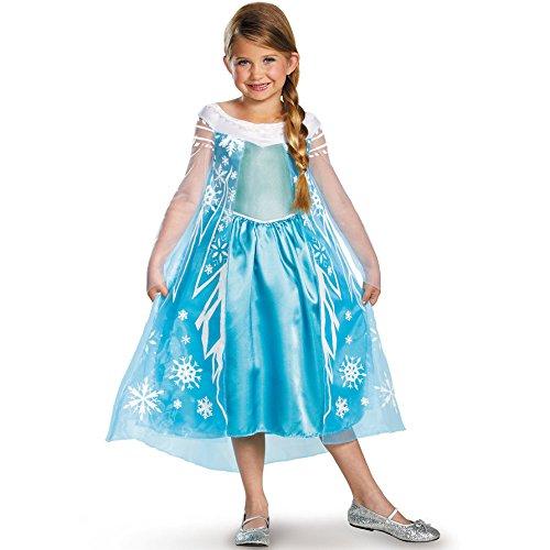 Disguise Disney's Frozen Elsa Deluxe Girl's Costume,