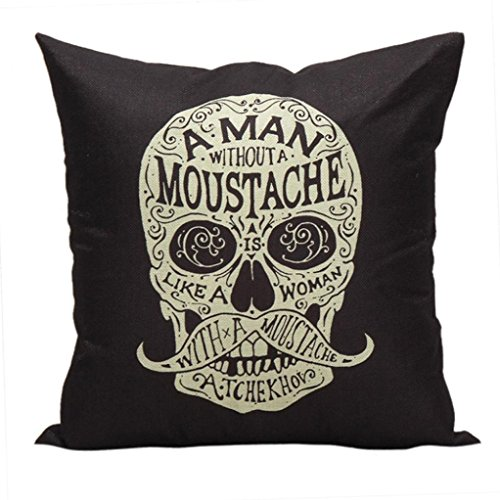 Nadition Funny Halloween Throw Pillow Cover,Wicked Chalkboard Halloween Throw Pillow Cover Decorative Pillowcase18x18Inch (Black B)