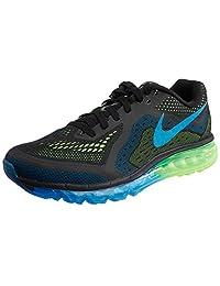 Nike Mens Air Max 2014 Running Shoes-Black/Photo Blue/Electric Green