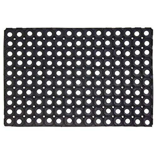 Global Home Heavy Rubber Foor Mat (Black) – 2 pc Combo (24X16 Inch)