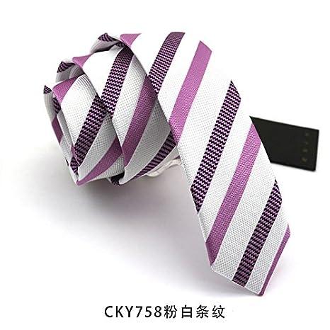 Gentlee - Corbata para hombre con diseño de rayas azules y texto ...