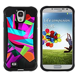 "Pulsar iFace Series Tpu silicona Carcasa Funda Case para Samsung Galaxy S4 IV I9500 , Colores colorido del trullo rosado Formas"""