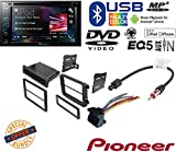 VOLKSWAGEN 2008 - 2011 GLI CAR RADIO STEREO CD PLAYER DASH INSTALL MOUNTING KIT HARNESS W/ Pioneer AVH-290BT Multimedia DVD Receiver with 6.2'' WVGA Display and Built-in Bluetooth