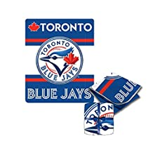 "Toronto Blue Jays MLB Soft Cozy Sherpa Throw Fleece Blanket Bluejays 47"" x 59"""