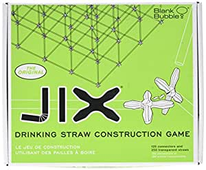 Blank Bubble JIX, The Original Drinking Straw Construction Game
