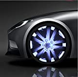 QIEI Car Wheel Rim Light Waterproof Solar Energy LED Flashing Lights Car Tyre Decoration Accessories?4 PCS? , white