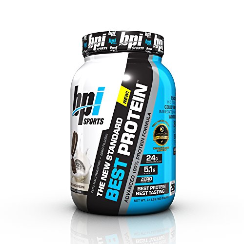 BPI Sports Best Protein Advanced 100% Protein Formula, Cookies and Cream, 2.1 Pound