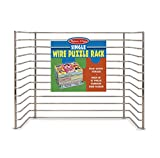 #4: Melissa & Doug Puzzle Storage Rack - Wire Rack Holds 12 Puzzles(Puzzles Not Included)