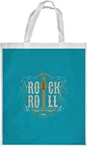 rock and roll Printed Shopping bag, Large Size