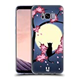 Head Case Designs Cat Dreamy Blossoms Soft Gel Case for Samsung Galaxy S8+ / S8 Plus