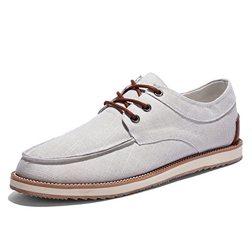 Blivener Chaussures à Lacets Et Coupe Classique Homme Beige