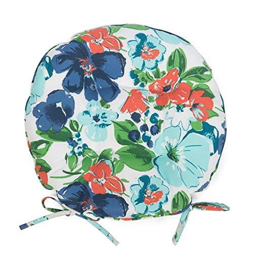Blue Orange Summer Floral Set of 2 16
