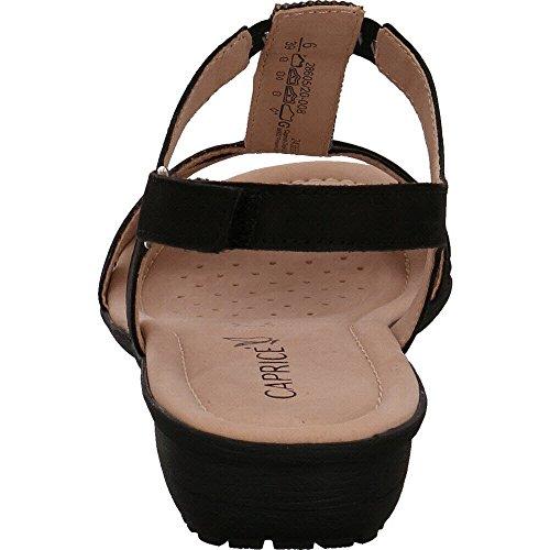 Caprice Sandalette Sort Nubuc HeH9Zbk68v
