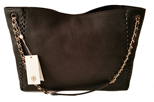 Tory Burch Marion Slouchy Shoulder Tote Black Leather Bag by Tory Burch (Image #3)