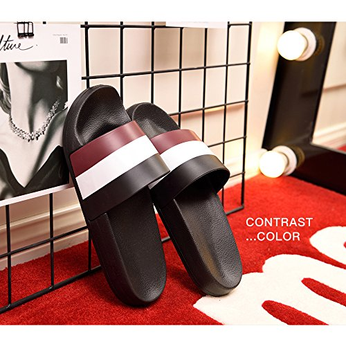 Shoes Sandals Bastolive Mens Pool Beach Black for Red White Shower Womens Slippers Water Slides qfSfIYw