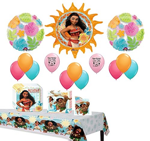 Disney Moana Birthday Party Supplies Bundle