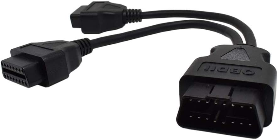 REARMASTER J1962 OBD2 Y Cable Adaptor 1 Male to 2 Female