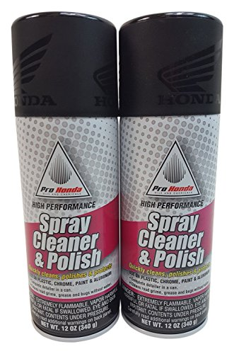 HONDA 08732-SCP00 Spray Cleaner and Polish, 12 oz., 2 Cans (Best Motorcycle Cleaner And Polish)
