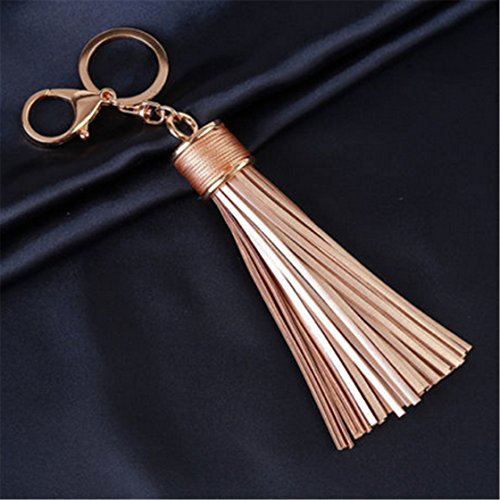TraveT Leather Tassels Keychain Handbag