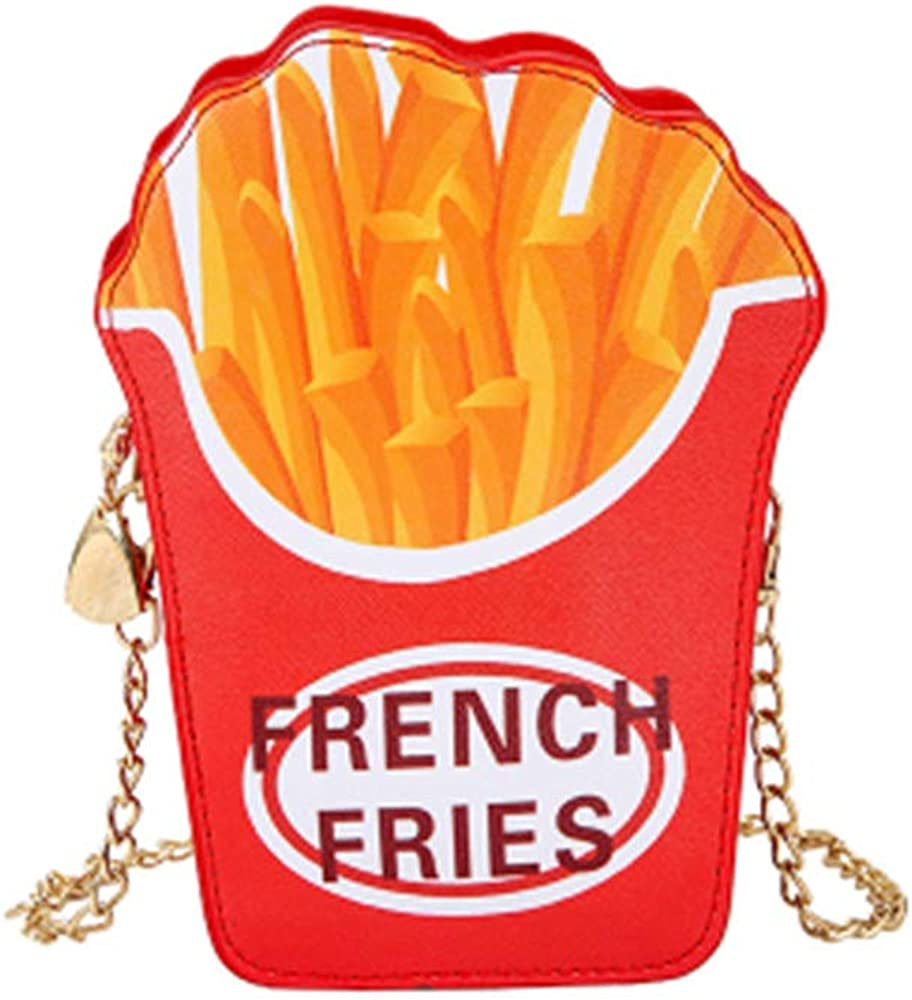 Women Girl Cute Fries Satchel Shoulder Crossbody Messenge Handbag Bag Purse