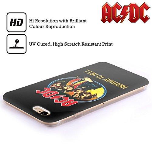 Officiel AC/DC ACDC Route Au Diable Titres De Chanson Étui Coque en Gel molle pour Apple iPhone 6 / 6s