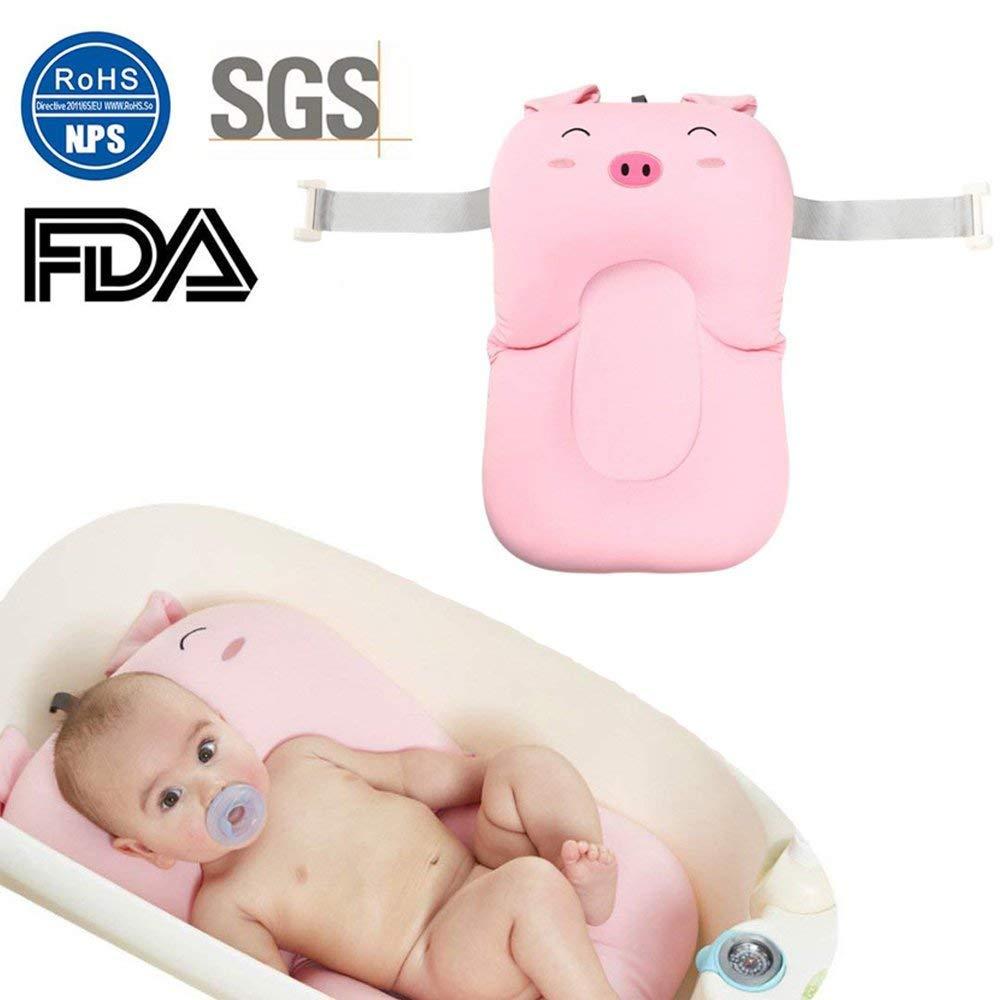Xueliee Baby Bath Cushion,Non-Slip Bathtub Mat Newborn Safety Security Bath Seat Tub Cushion