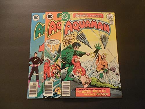 3 Iss Adventure Comics #448-450 1978-79 Bronze Age DC Comics Aquaman