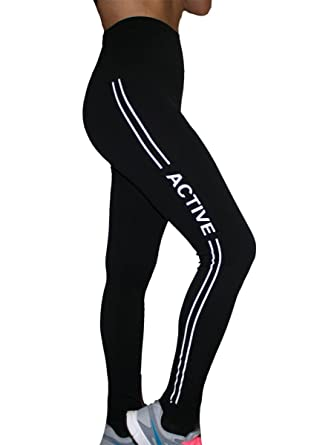 Women YOGA Running Sport Pants High Waist Cropped Legging Fitness ...