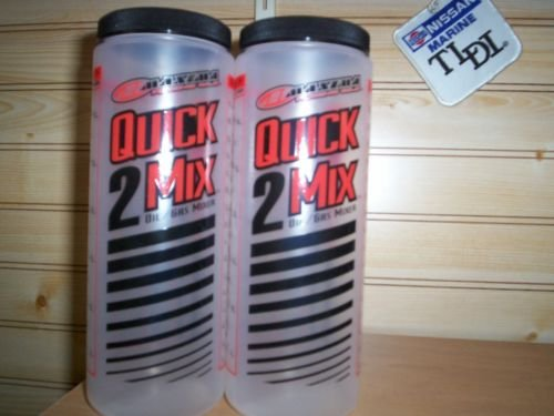 2 Pack quick mix 2 stroke oil measuring cup with lid MAXIMA ratio rite type Mix Rite Cup