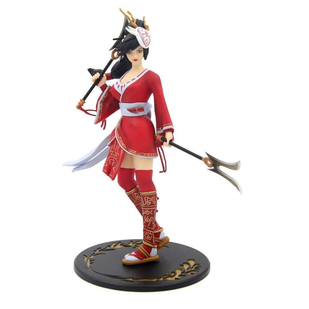 PEILIAN Anime Statue Spielzeug Modell Spiel League of Legends Charakter Ghost Warrior Akali Spielzeug Statue Dekoration Souvenir Sammlerstücke Handwerk 16 cm