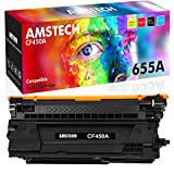 Amstech Compatible Toner Cartridge Replacement for HP 655A CF450A Toner for HP Laserjet Enterprise M653dn M652dn M652n M653x M652 M653 M681dh Flow MFP M681f M681z M682z (Black, 1-Pack)