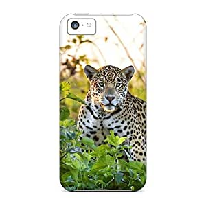 LJF phone case Jaguar In Meadow Case Compatible With Iphone 5c/ Hot Protection Case