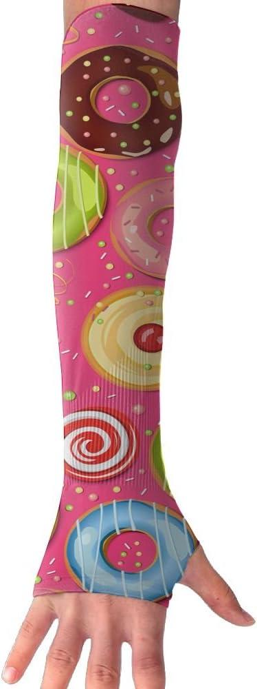 MASDUIH Doughnut Gloves Anti-uv Sun Protection Long Fingerless Arm Cooling Sleeve For Men And Women