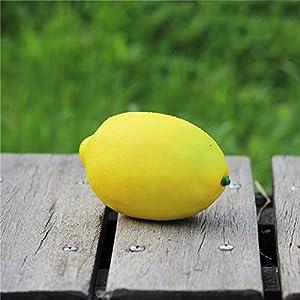 FYYDNZA 1Pcs Simulation Fake Fruit High Simulation Yellow Lemon Model Fake Lemon Photography Props Posted Decorations 44