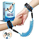 Anti Lost Wrist Link - Safety Strap Kid Leash for Babies, Toddlers & Kids with Key and Lock (Blue)