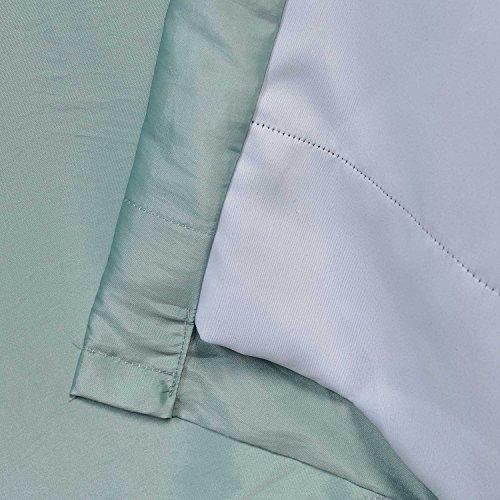 Half Price Drapes PTCH-BO5-96 Blackout Faux Silk Taffeta Curtain, Robin's Egg by HPD Half Price Drapes (Image #4)