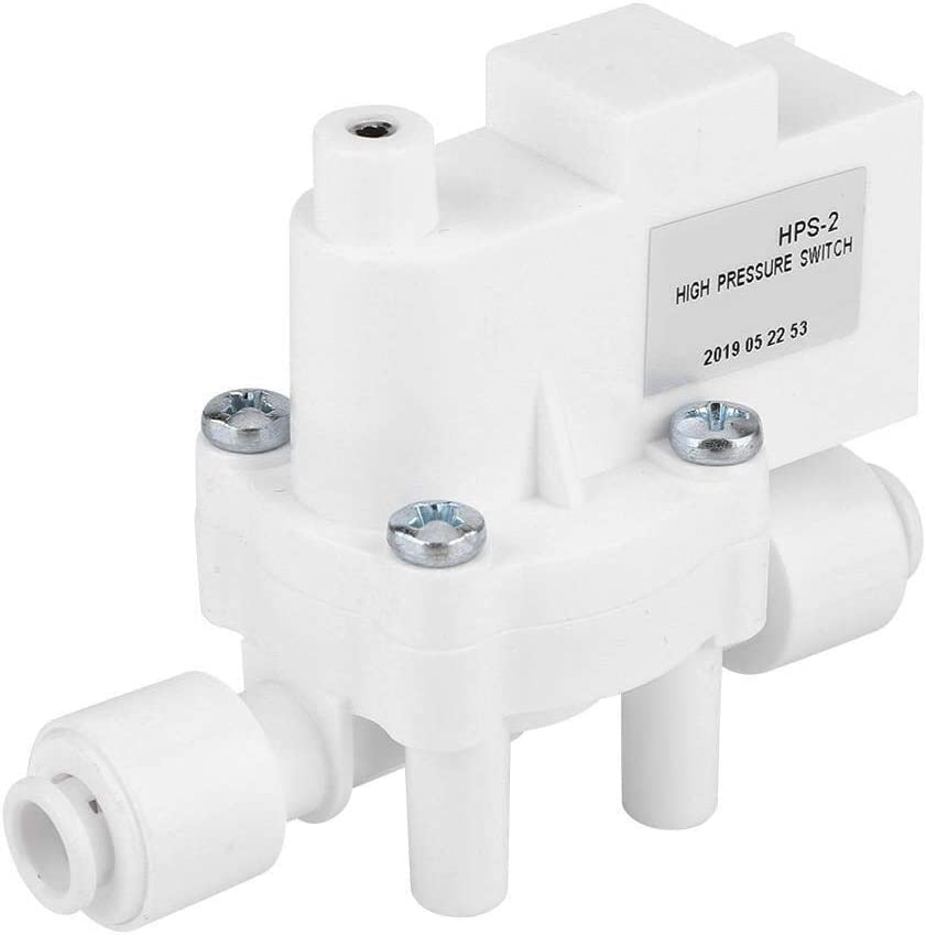 Alupre 1//4 DC 24V High Pressure Switch compatible with Pump RO Water Fitlers Reverse Osmosis Tank 0.25MPa Action
