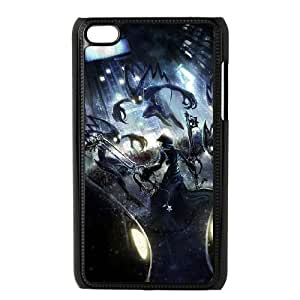 Qxhu Kingdom Hearts patterns Hard Plastic Back Protective case for Ipod Touch4