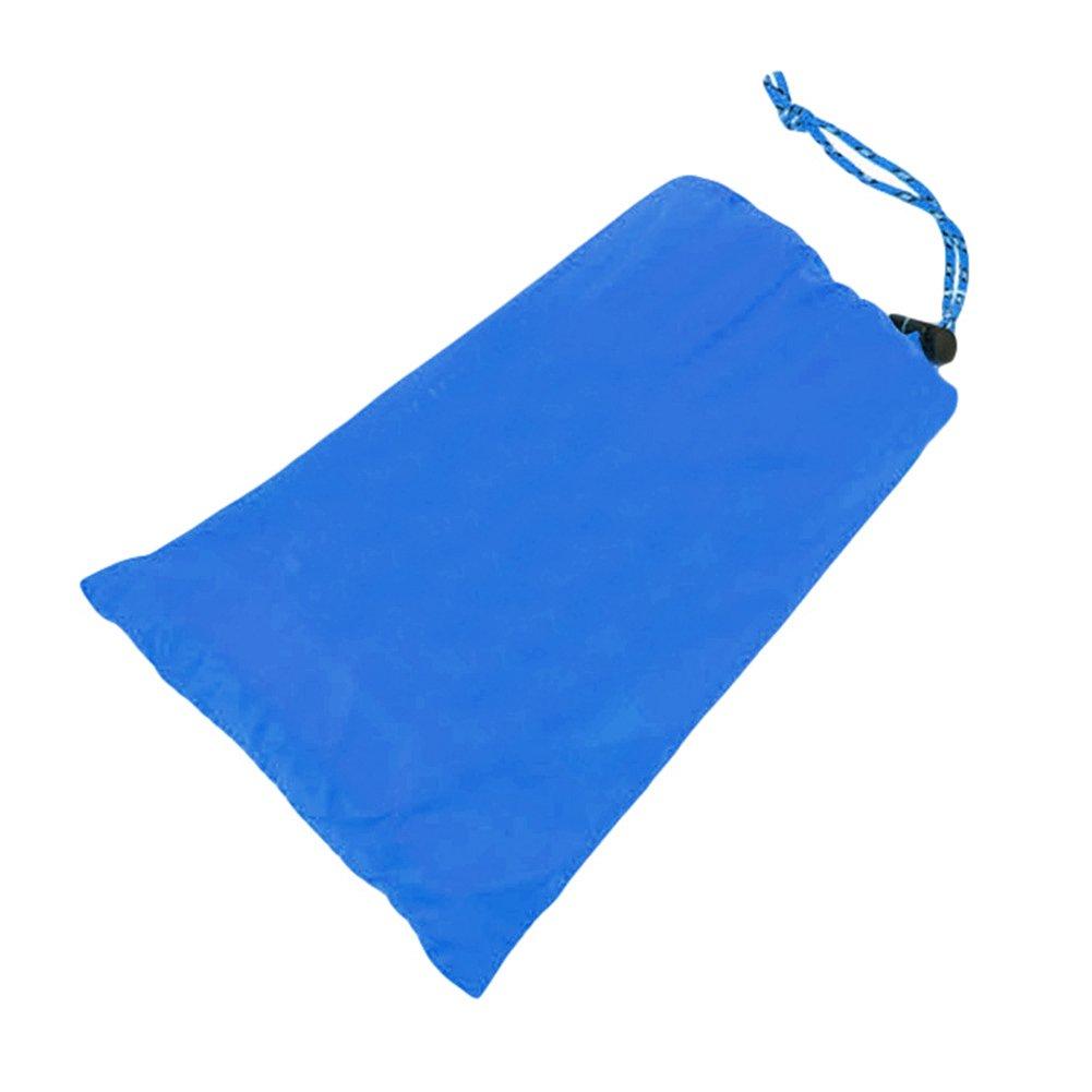 quietcloudポータブル圧縮キャンプハイキングマットテントマットレスTarp Blanket雨カバー B0794XMQTN  ブルー
