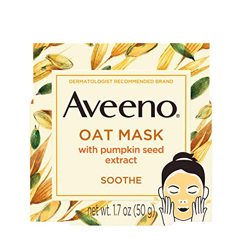 Aveeno Oat Face Mask, Soothing Pumpkin Seed