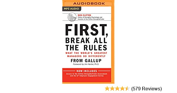 First Break All The Rules Book Pdf