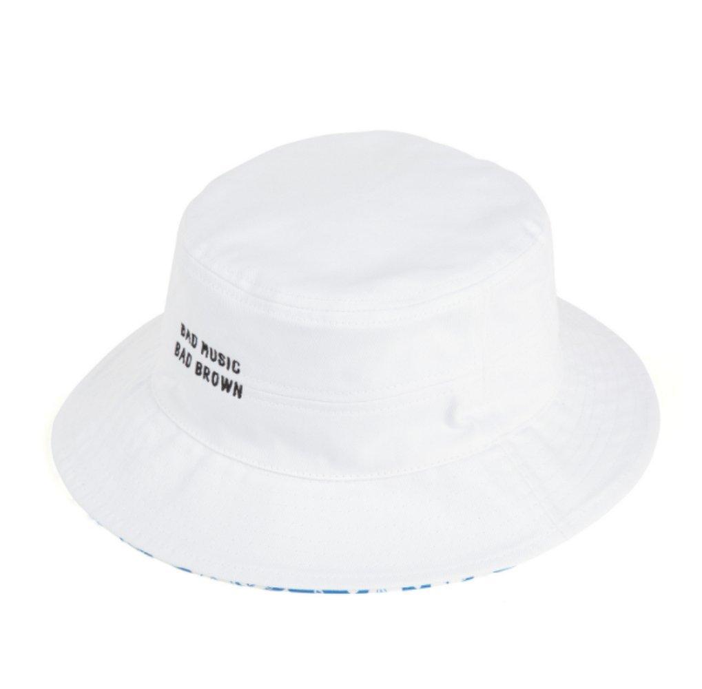 LINE FRIENDS Beat Brown Bucket Hat One Size White_Blue