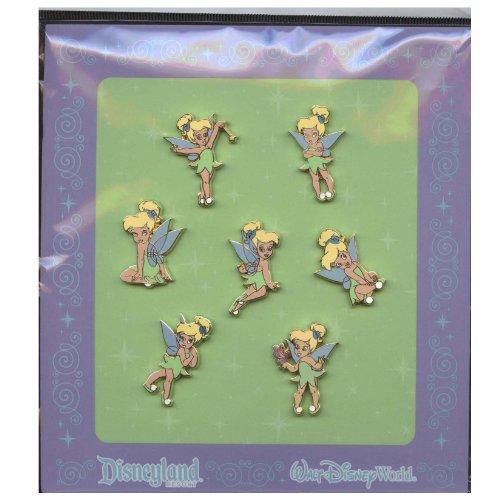 Disney Tiny Tinkerbell 7 Piece Pin Set