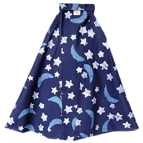 [Fair Trade Kids Cotton Play/Costume Cape (Night Sky Navy)] (Ghana Costume For Boys)