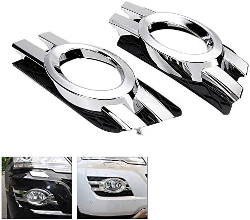 ML Class C W164 2008 2009 2010 2011 1648800824 1648800724 Nrpfell Car Chrome Front Fog Light Trim Cover for Mercedes