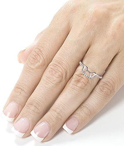 Kobelli Round Diamond Contoured Wedding Band 1/5 CTW 14k White Gold (for Kobelli MZ61766-E)