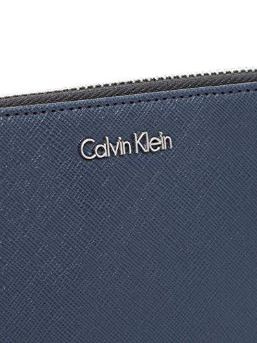 Ziparound Bleu M4rissa Large Portefeuille Jeans Klein Calvin ZqCOII