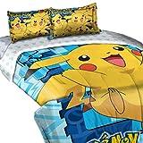 "Pokemon, ""Big Pika"" Twin/Full Comforter with 2 Pillow Shams, 72"" x 86"""