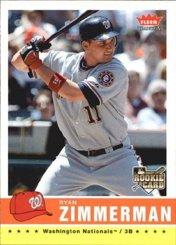 2006 Fleer Rookie Baseball Card - 2006 Fleer Tradition Baseball Rookie Card #113 Ryan Zimmerman Near Mint/Mint