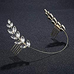 Bridal Leaf Crystal Headband Comb
